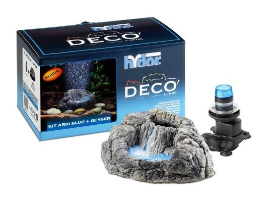 Hydor DECO Line Kit Ario Blue + Geyser (Medium)