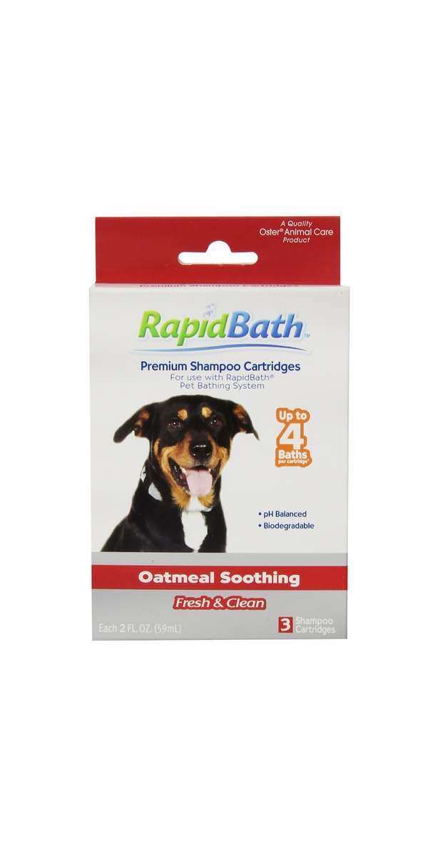 HydroSurge Rapidbath Shampoo Oatmeal Soothing Cartridges (3 Pack)