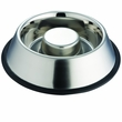 Indipets Stainless Steel Non-Tip Anti-Skid Health Care Slow Feeding Dish - Large