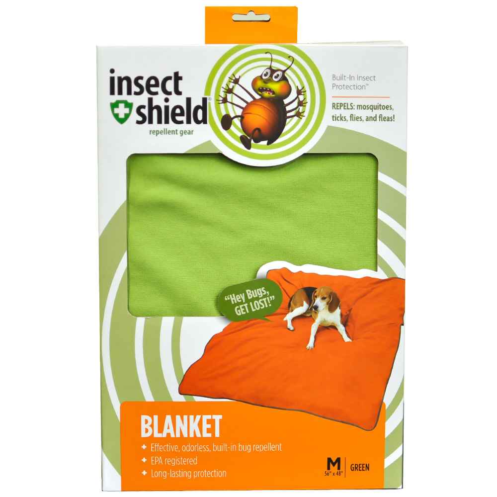 """Insect Shield Blanket 56""""x48"""" - Green"""