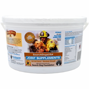 SearchDogsUSA Canine Joint Supplement (240 Soft Chews)
