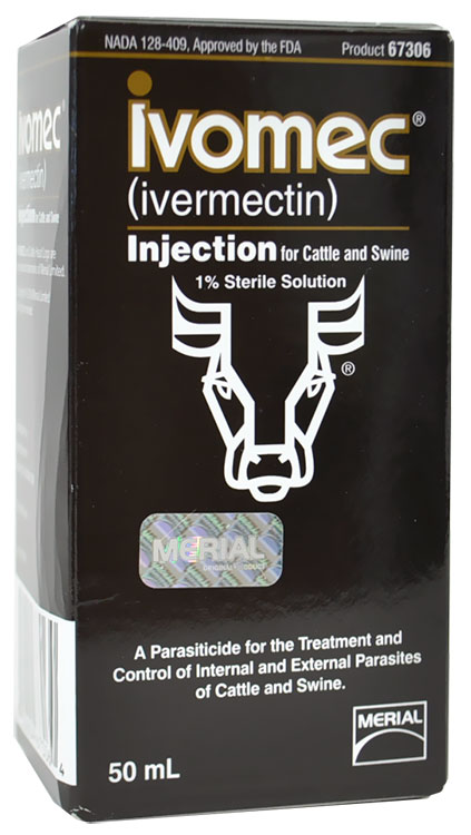 Ivomec (1% Ivermectin) for cattle/swine (50 mL)
