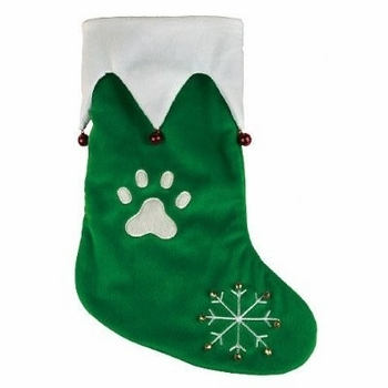 "Jingle Bell Holiday Stocking Green (14"")"