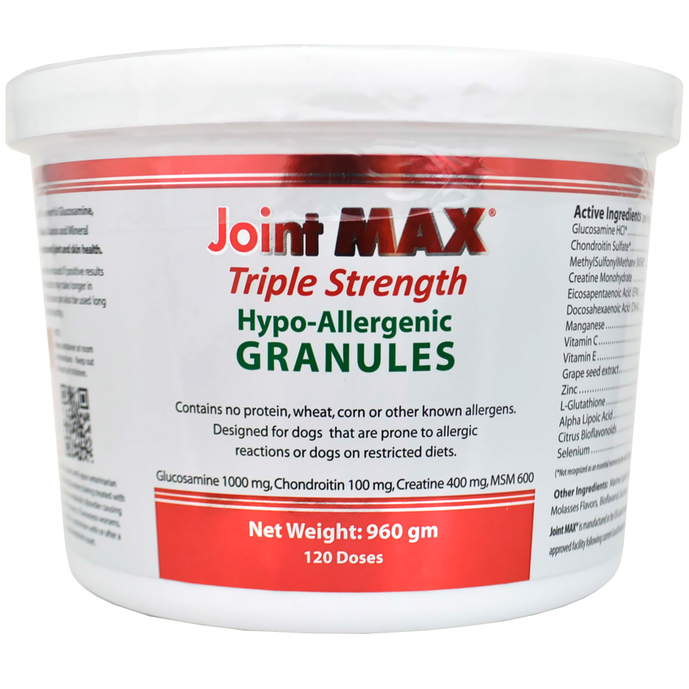 Joint MAX® Triple Strength Hypoallergenic Granules (120 Doses)