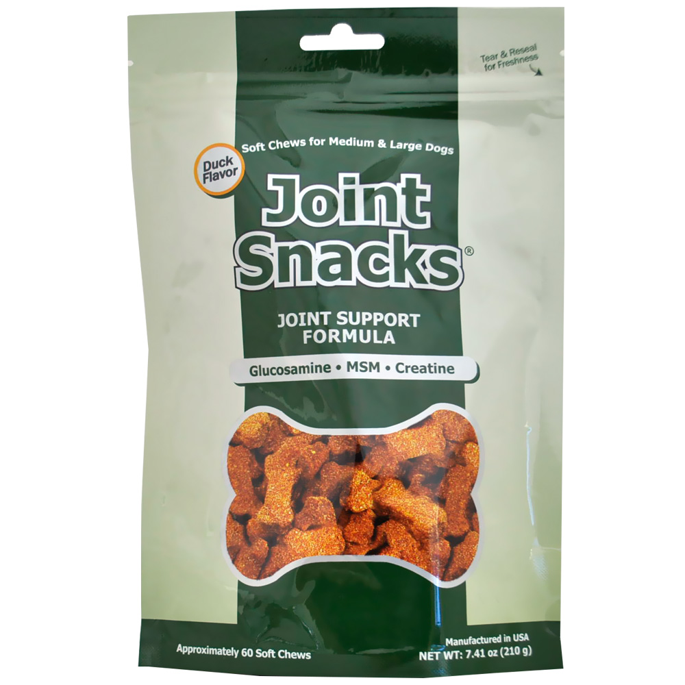 Joint Snacks for Medium & Large Dogs Duck Flavor (60 Soft Chews)