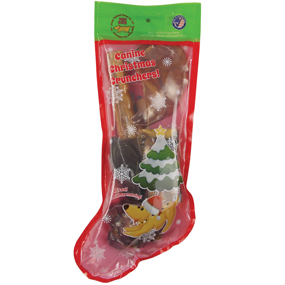 Jones Natural Chews Canine Christmas Crunchers Stocking