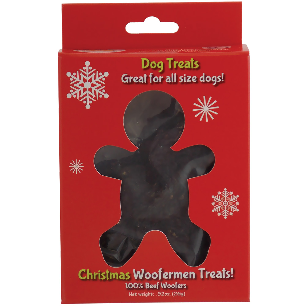 Jones Natural Chews Christmas Woofermen Treats