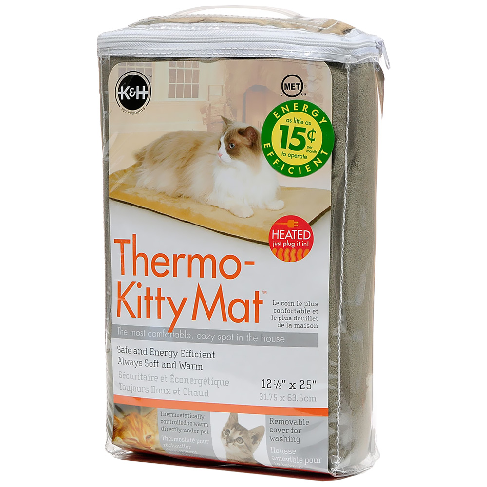 "K&H Thermo-Kitty Mat Sage (12.5"" x 25"")"