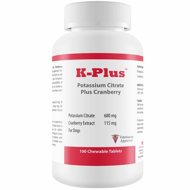 K-Plus Potassium Citrate Plus Cranberry (100 Tablets)