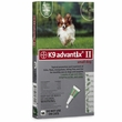 K9 ADVANTIX II 4 MONTH  GREEN Small Dog (for dogs up to 10 lbs)