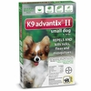 6 MONTH K9 ADVANTIX II GREEN Small Dog (for dogs up to 10 lbs)