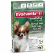 6 MONTH K9 ADVANTIX II GREEN Small Dog (for dogs under 10 lbs)
