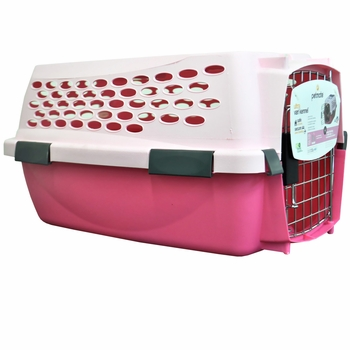 Kennel Cab Pampered Pet Light Pink/Dark Pink - SMALL