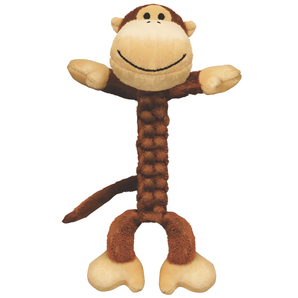 Kong Braidz Monkey Plush Dog Chew Toy (Large)