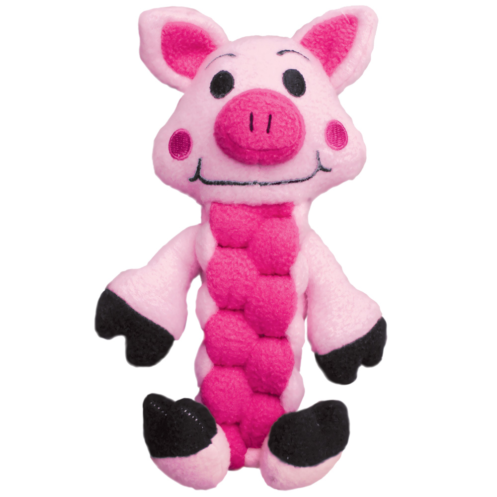 KONG Pudge Braidz Pig Dog Toy - Medium/Large