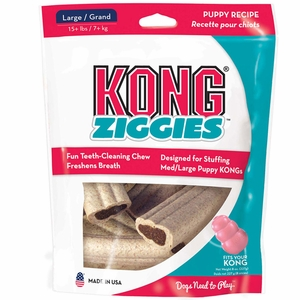 Kong Puppy Stuff'N Ziggies Large 6 Pack (8 oz)