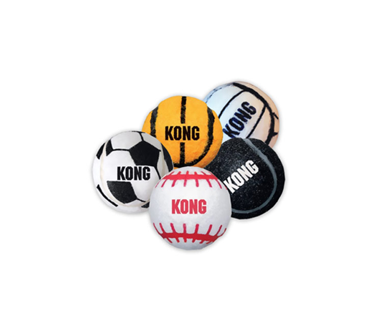 KONG Sports Balls - Small 3-Pack (Assorted)