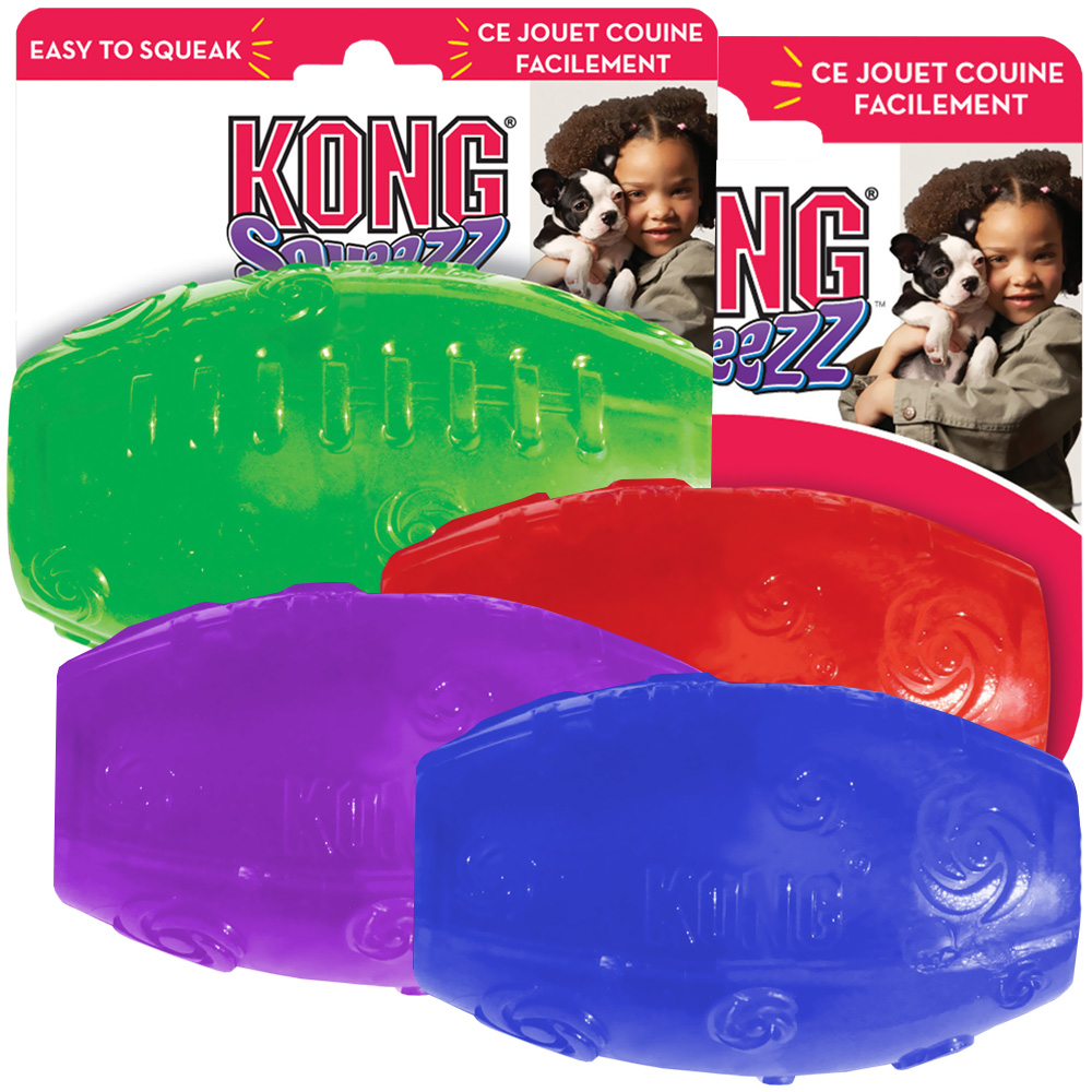 KONG Squeezz Football - Large (Assorted)