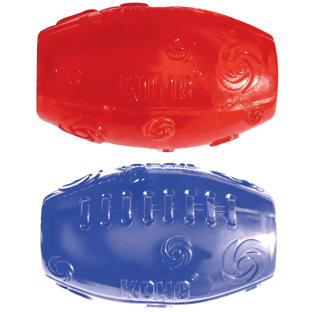 KONG Squeezz Football - Medium (Assorted)
