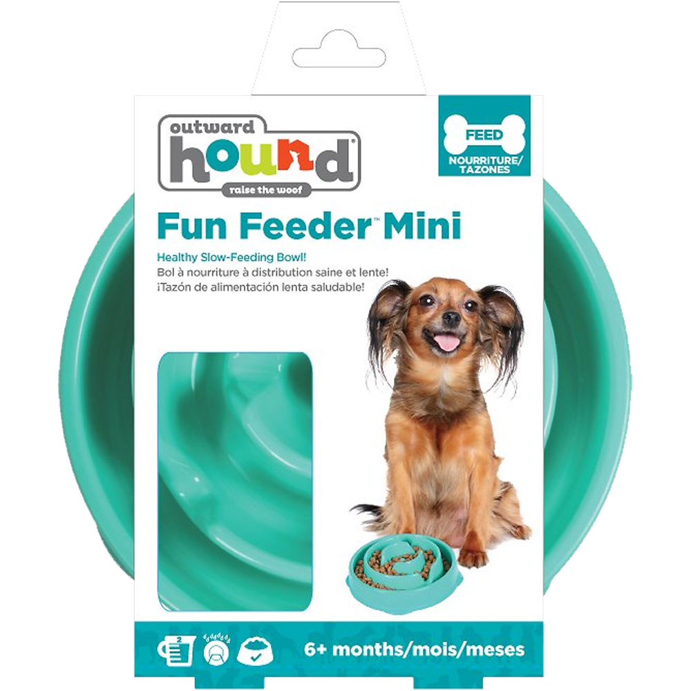 Kyjen Dog Games Slo-Bowl Mini - Drop Teal