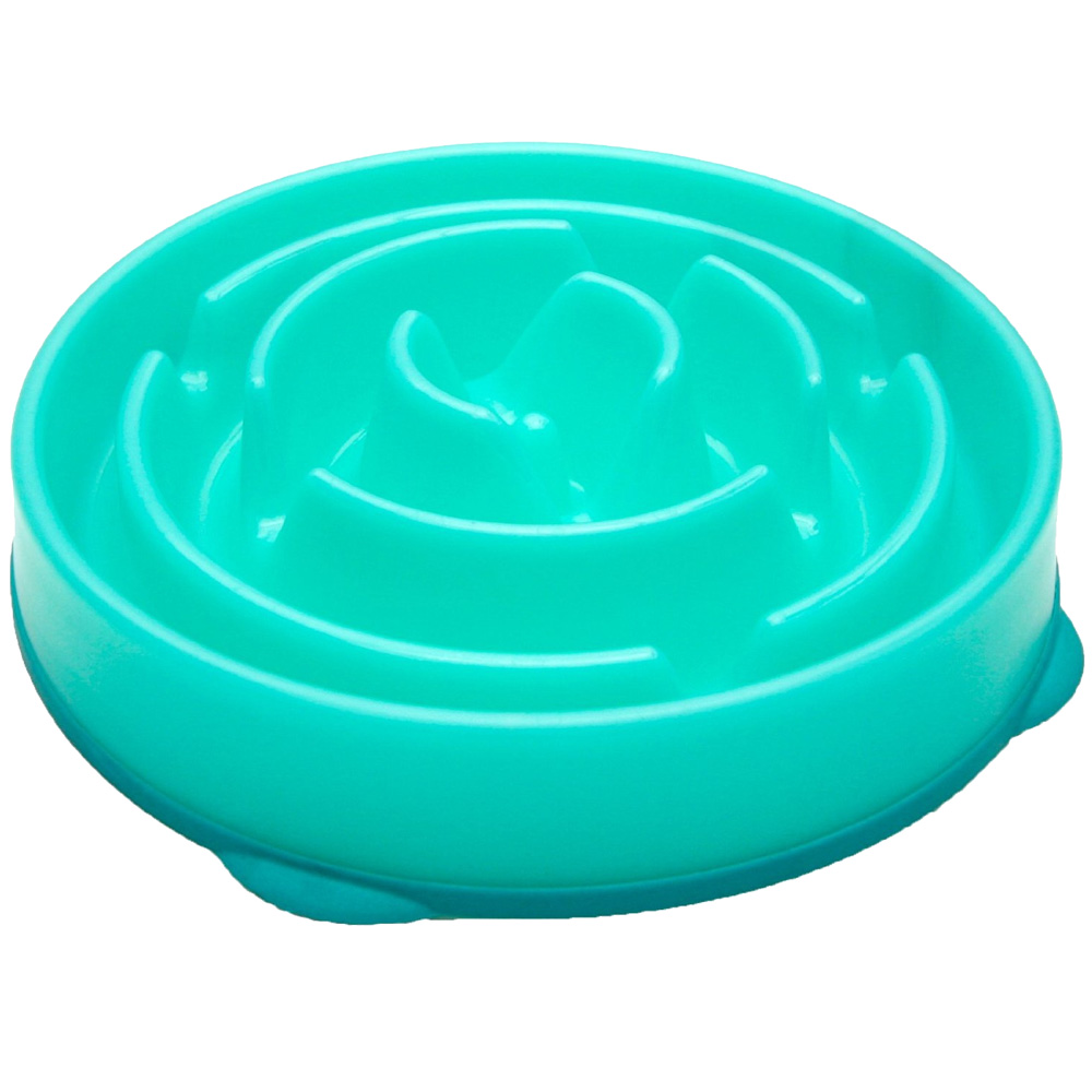 Kyjen Dog Games Slo-Bowl Slow Feeder Drop - Teal