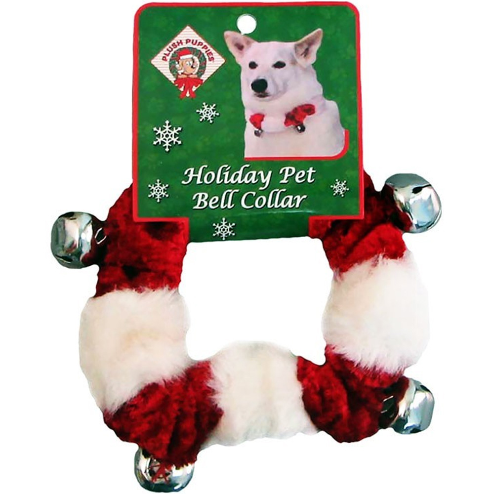 Kyjen Holiday Bell Collar Red/White - Small