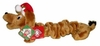 Kyjen Holiday Bungee Weiner Dog with Santa Hat - Large