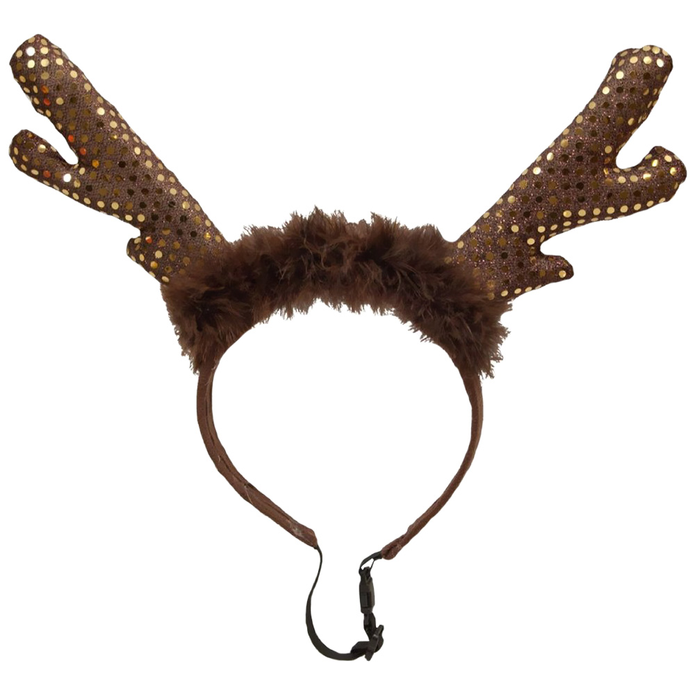 Kyjen Holiday LED Headband Antlers - Small