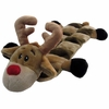 Kyjen Holiday Long Body Squeaker Mat - Reindeer