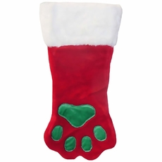 Kyjen Holiday Red Paw Stocking - Small