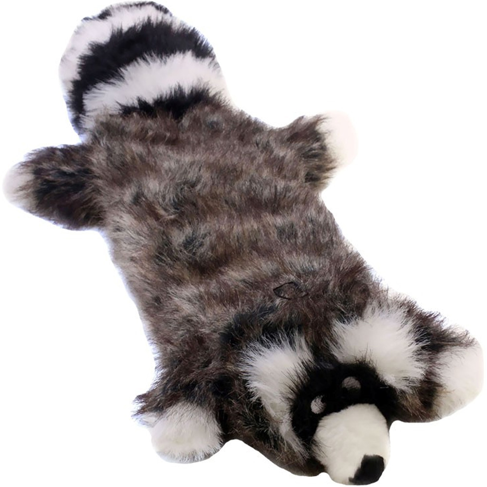 Kyjen Long Body Real Animal Squeaker Mat - Ricky the Raccoon