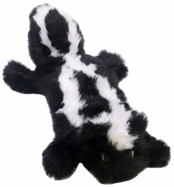 Kyjen Long Body Real Animal Squeaker Mat - Sammy the Skunk