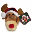 Kyjen Plush Puppies Invincible Reindeer Ornament