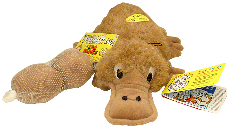Kyjen Puzzle Egg Babies Platypus Dog Toy (5 Eggs)