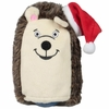Kyjen Hard Boiled Softies - Hedgehog with Santa Hat