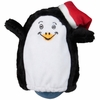 Kyjen Hard Boiled Softies - Penguin with Santa Hat
