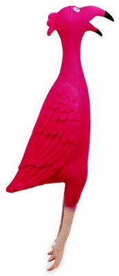 Kyjen Squawkie Talkies Flamingo Dog Toy