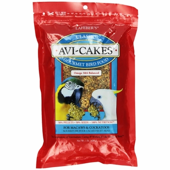 Lafeber's Avi-Cakes Gourmet Bird Food for Macaws and Cockatoos