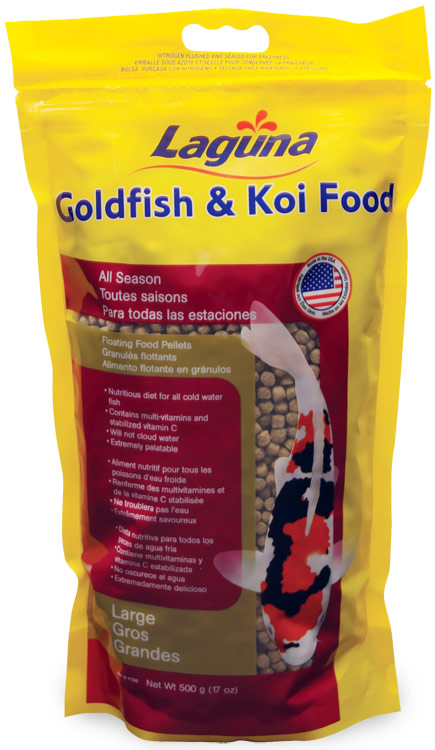 Laguna Goldfish & Koi Floating Food Large Pellets (17 oz)