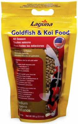 Laguna Goldfish & Koi Floating Food Medium Pellets (3.5 oz)