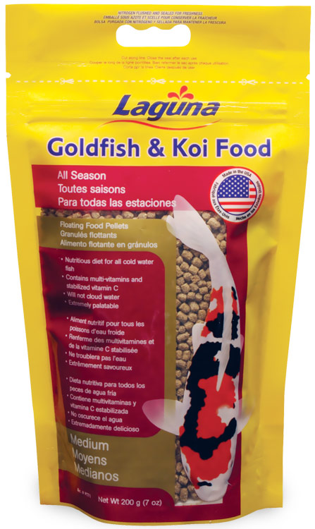 Laguna Goldfish & Koi Floating Food Medium Pellets (7 oz)
