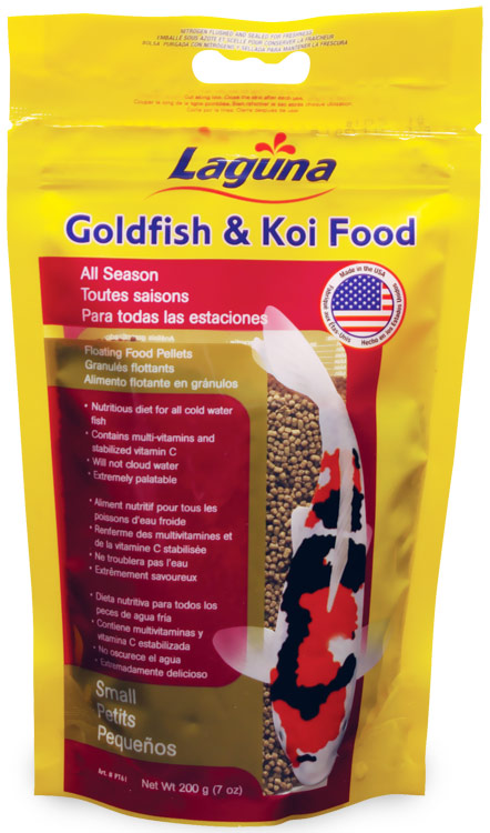 Laguna Goldfish & Koi Floating Food Small Pellets (7 oz)