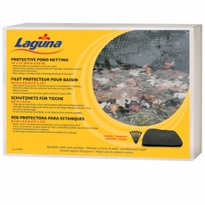Laguna Pond Netting with stakes (15' x12') - Black