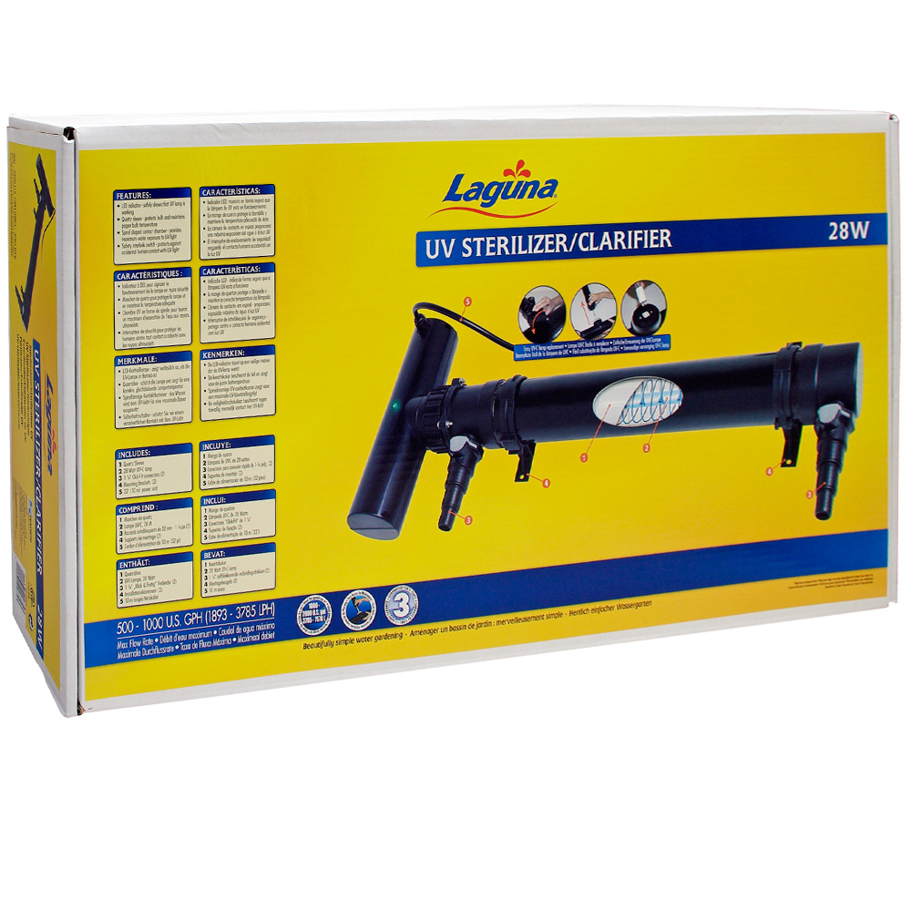 Laguna UV Sterilizer/Clarifier, (28 W)