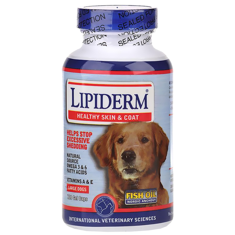 Lipiderm Large Breed (120 Gel Capsules)