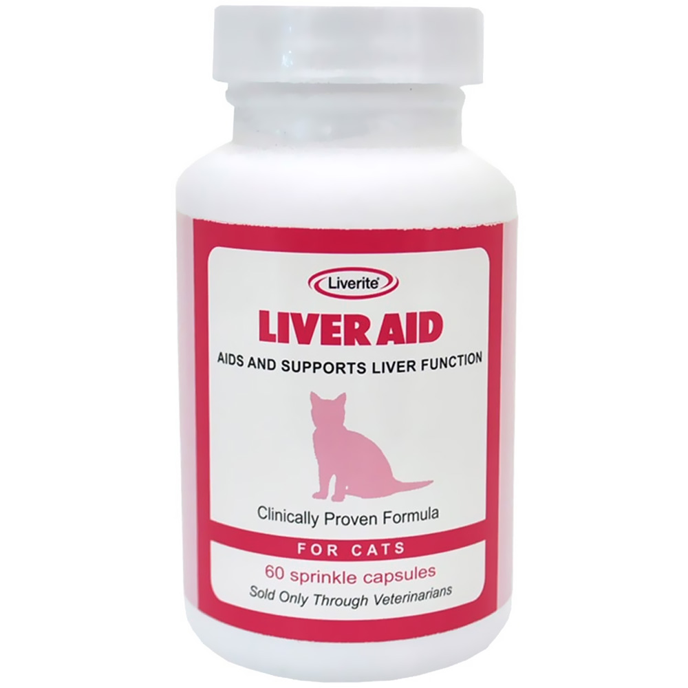 Liverite Liver Aid for Cats (60 Sprinkle Capsules)