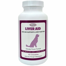 Liverite Liver Aid for Medium and Large Dogs (60 Chewables)