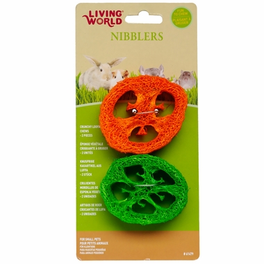 Living World Nibblers Loofah Chews Slices