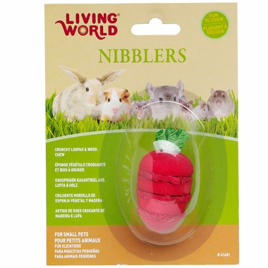 Living World Nibblers Wood/Loofah Chews - Stawberry