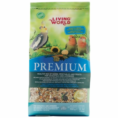 Living World Premium Lovebird/Cockatiel (2 lb)